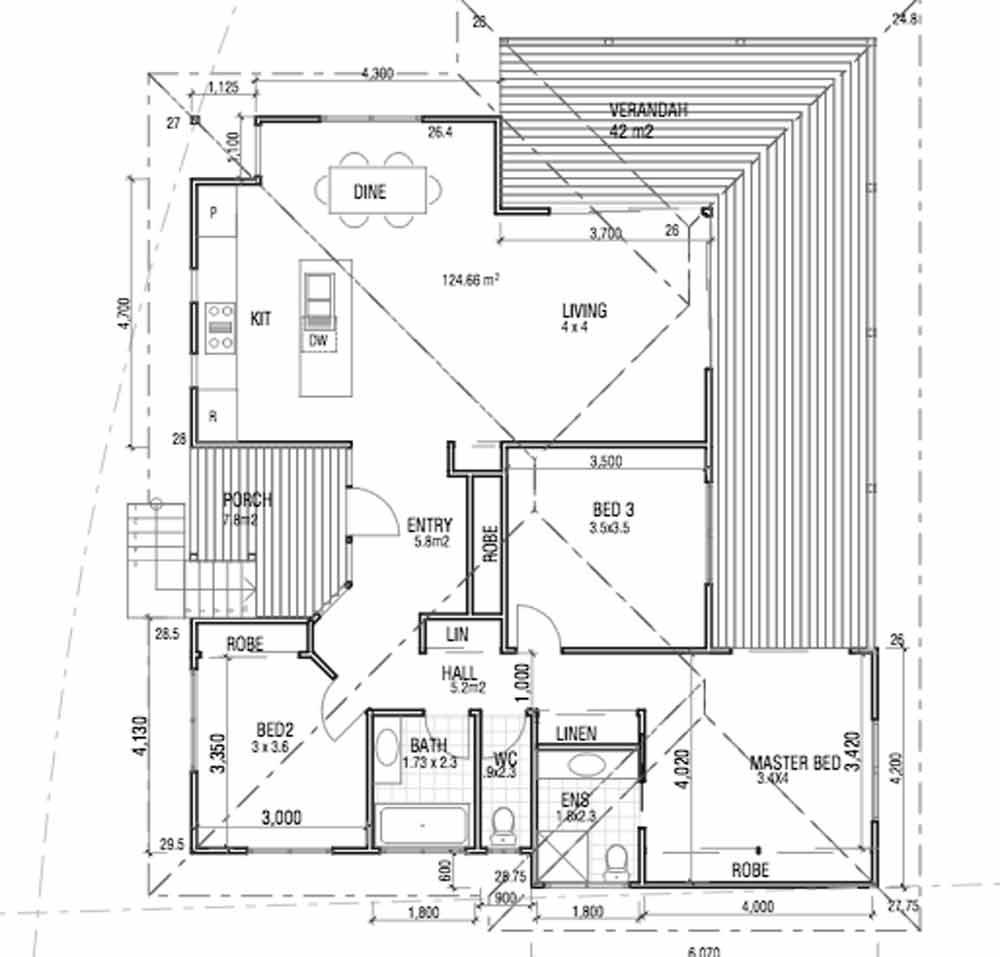 Ocean Shores residence floor plan
