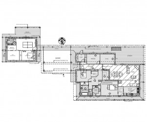 Rob Acton Stokers Floor Plan 5 301x251 Building Design Construction Drawings Barefoot Building Design On Rammed