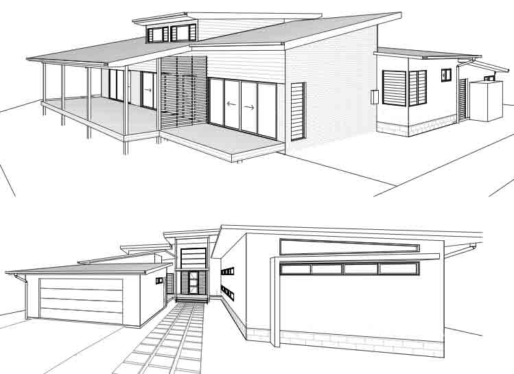 South golden beach addition rear elevation